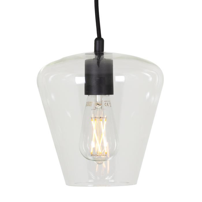 5098.E27/.. - MOBY TULIP TRANSPARANT, hanglamp - met 2m textielkabel en trekontlasting aan fitting