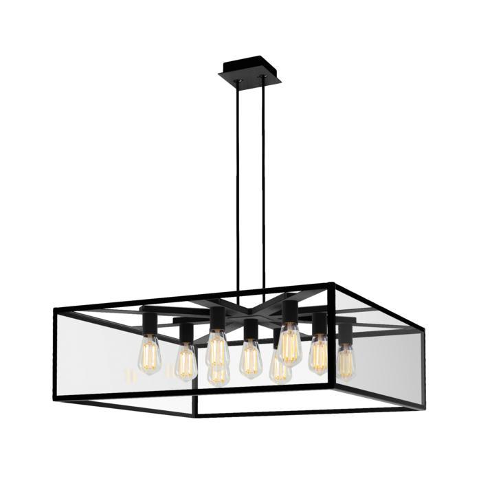 5108.9.B3/.. - TAVOLO SQ 800X800, hanglamp met bolgewricht en opbouwdoos