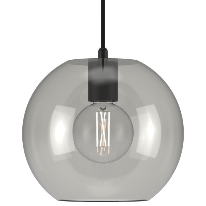 5109.C.E27/.. - MOBY STEEL, hanglamp - met 2m textielkabel en trekontlasting aan fitting