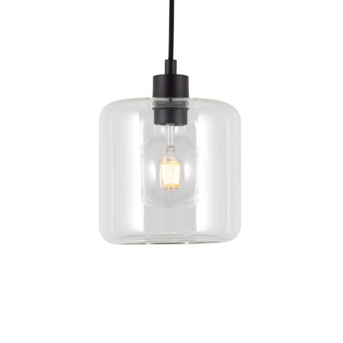 5114.N/.. - MANON N TRANSPARANT, hanglamp - rond - met 2m textielkabel en trekontlasting aan fitting