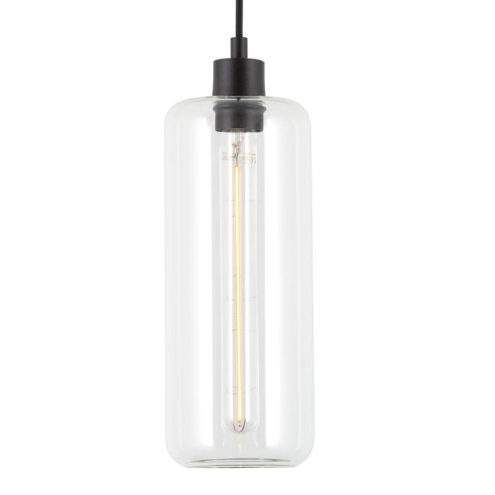 5116.P/.. - MANON P TRANSPARANT, hanglamp - rond - met 2m textielkabel en trekontlasting aan fitting