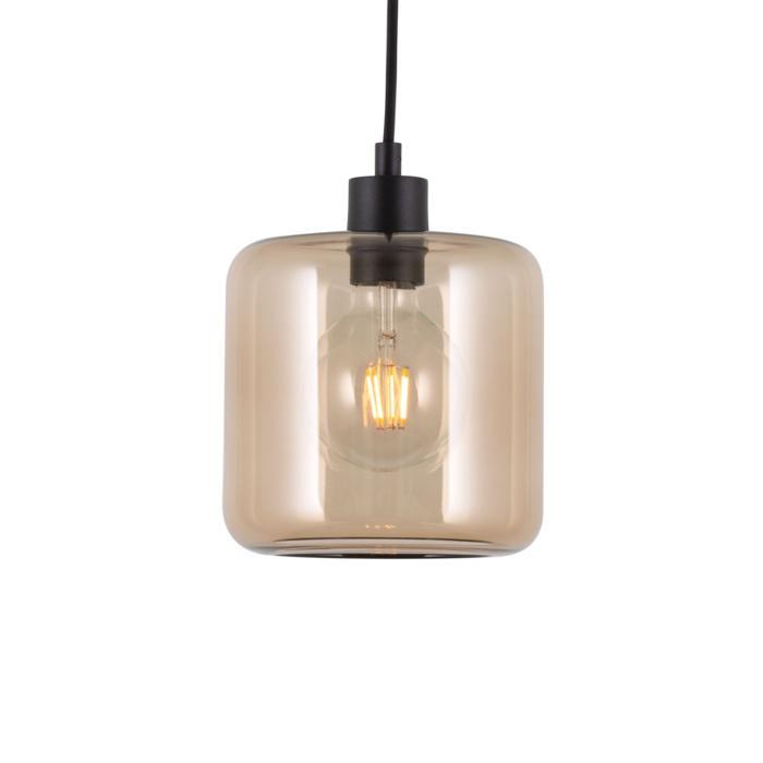 5120.N/.. - MANON N BRONZ, hanglamp - rond - met 2m textielkabel en trekontlasting aan fitting