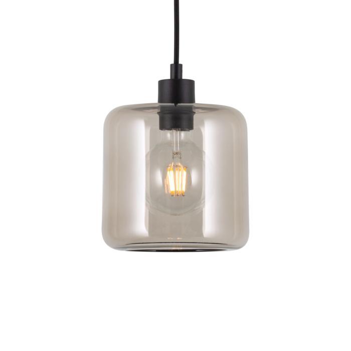 5123.N/.. - MANON N STEEL, hanglamp - rond - met 2m textielkabel en trekontlasting aan fitting
