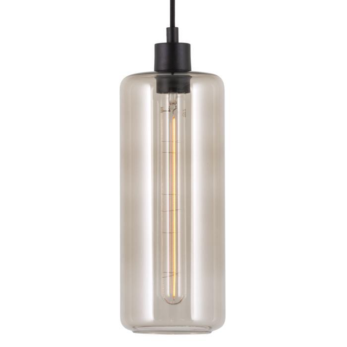 5125.P/.. - MANON P STEEL, hanglamp - rond - met 2m textielkabel en trekontlasting aan fitting