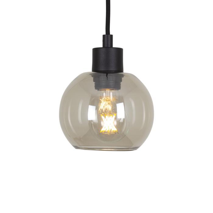 5126.A.E27.SH/.. - MOBY SH BRONZ, hanglamp met textielkabel - met 2m textielkabel en trekontlasting aan fitting