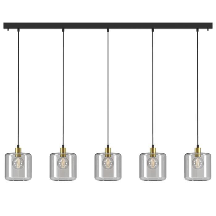 5130.5N/.. - MANON N COMBI, hanglamp - met 5x 1,5m textielkabel op basis Juba