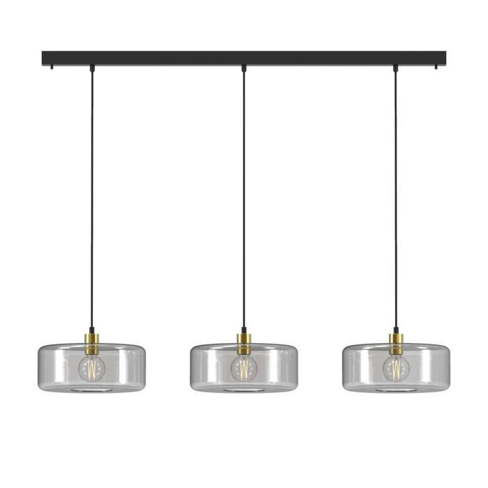 5131.3Q/.. - MANON Q COMBI, hanglamp - met 3x 1,5m textielkabel op basis Juba