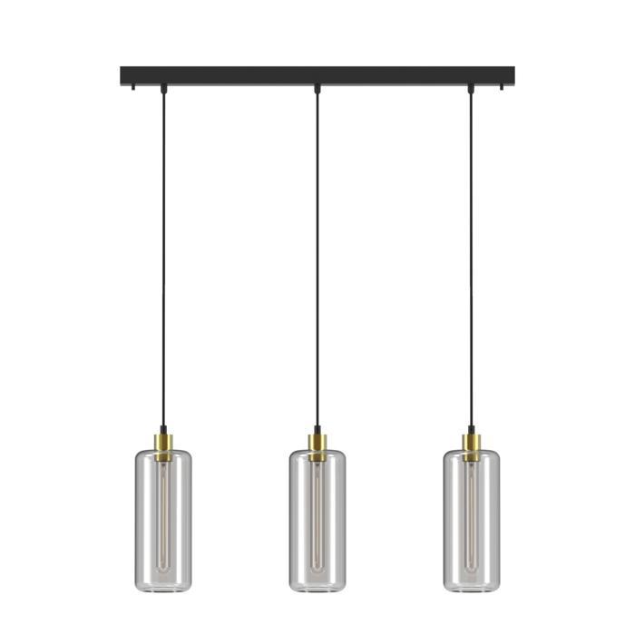 5132.3P/.. - MANON P COMBI, hanglamp - met 3x 1,5m textielkabel op basis Juba
