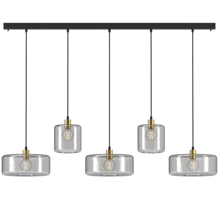 5134.2N3Q/.. - MANON NQ COMBI, hanglamp - met 5x 1,5m textielkabel op basis Juba