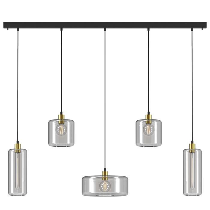 5135.2N1Q2P/.. - MANON NQP COMBI, hanglamp - met 5x 1,5m textielkabel op basis Juba