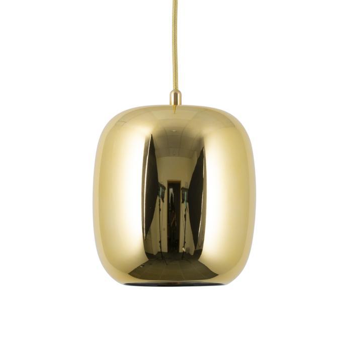 5138.E.E27/.. - MOBY DECO GOLD, hanglamp - met 2m textielkabel en trekontlasting aan fitting