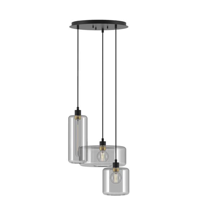 5143.1N1Q1P/.. - MANON NQP COMBI, hanglamp - met 3x 1,5m textielkabel op basis Rondo Box