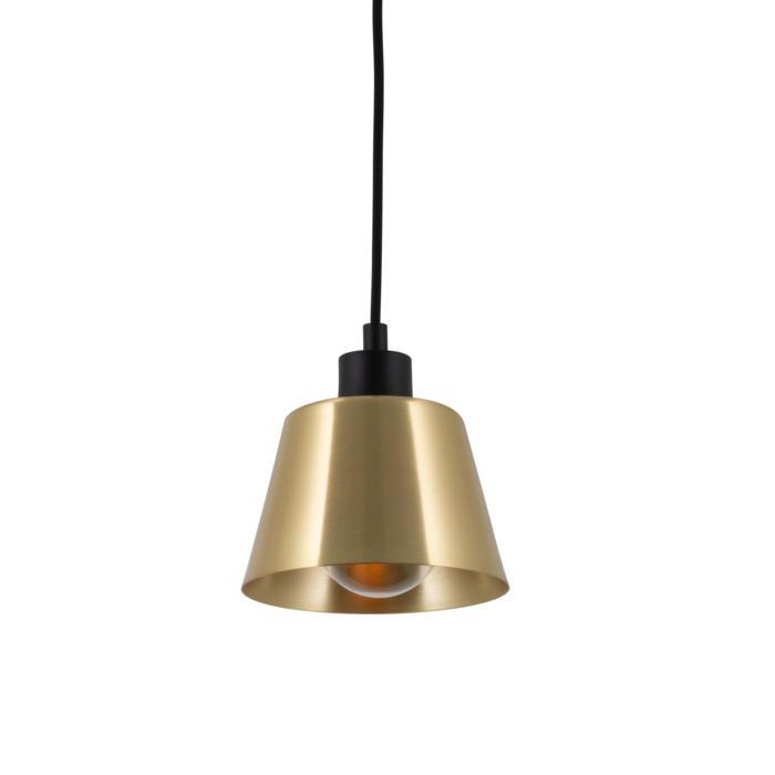5551.E27/.. - SHAKE METAL, hanglamp - down - met 1,5m textielkabel en trekontlasting aan fitting