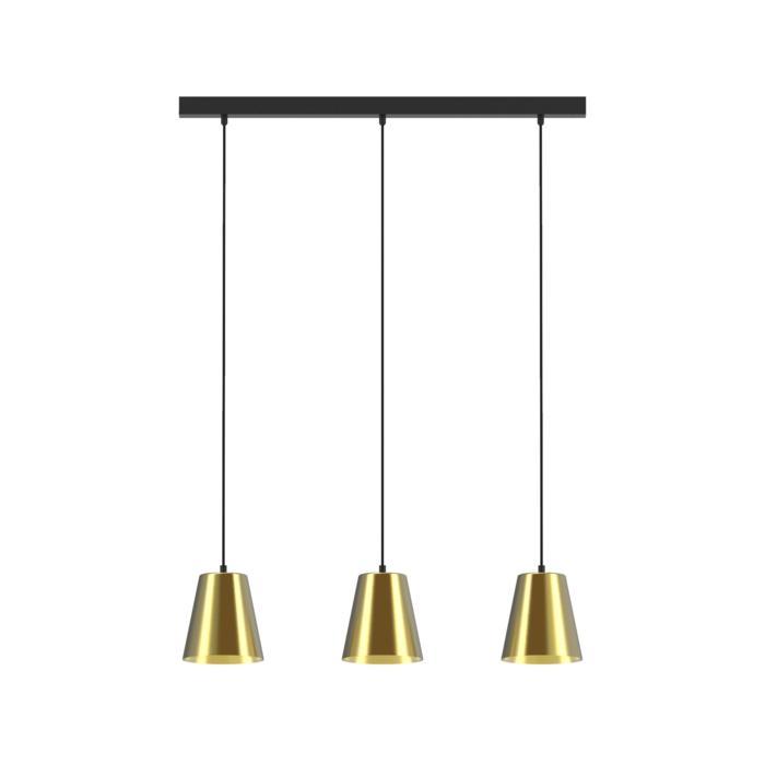 5572.LED/.. - SHAKE 3 LED, hanglamp - down - met 3x 1,5m textielkabel op basis Juba
