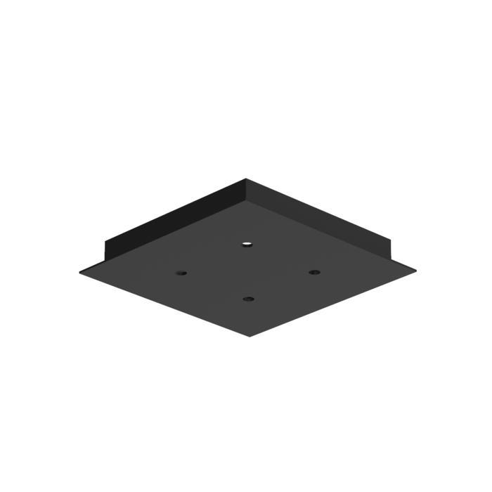 655/.. - TEXO, plafondverlichting - geen plaats voor transfo - vierkante basis