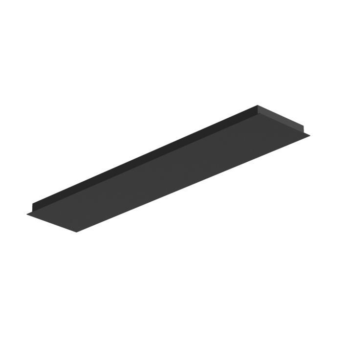 703.1200x250/.. - TEXO, rechthoekige basis voor opbouwspot of pendel