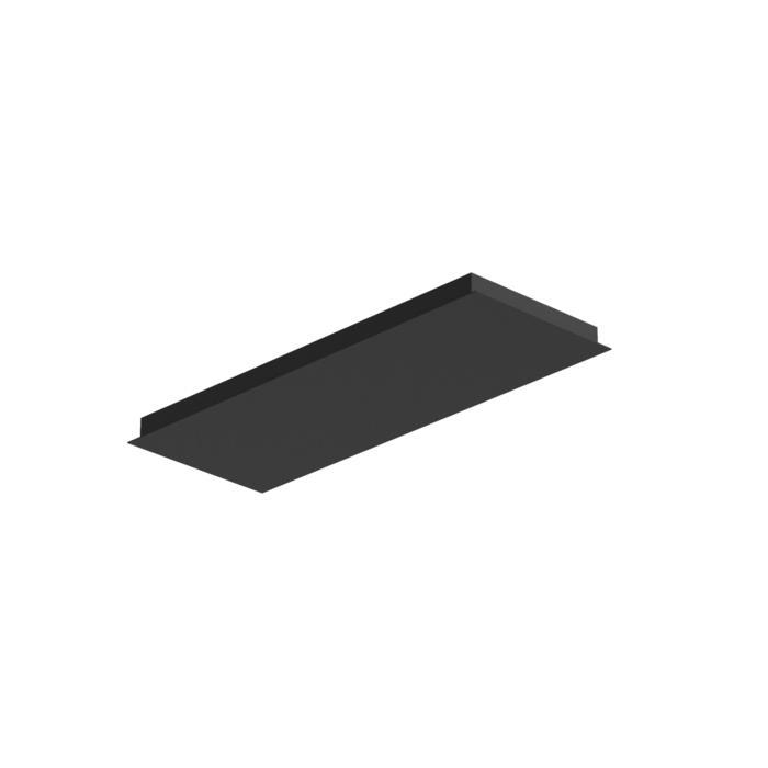 704.800X300/.. - TEXO, plafondverlichting - rechthoekige basis voor opbouwspot of pendel
