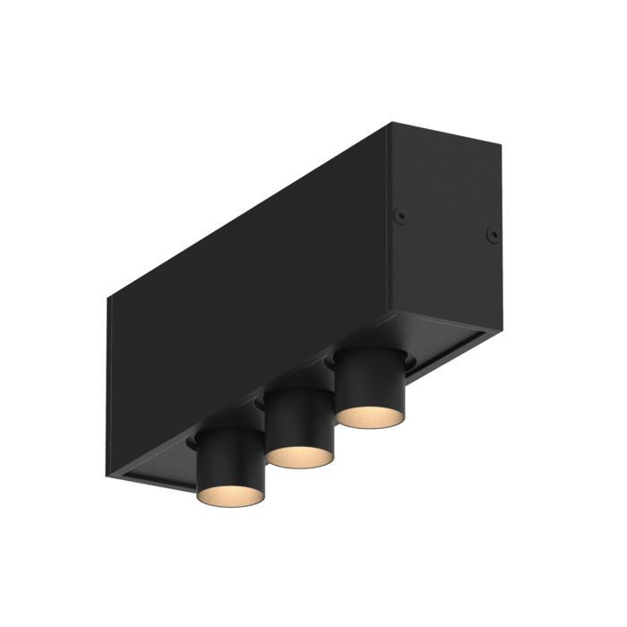 8349/.. - STELLA, vierkant - vast - met 3 ronde inbouwspots - met LED driver