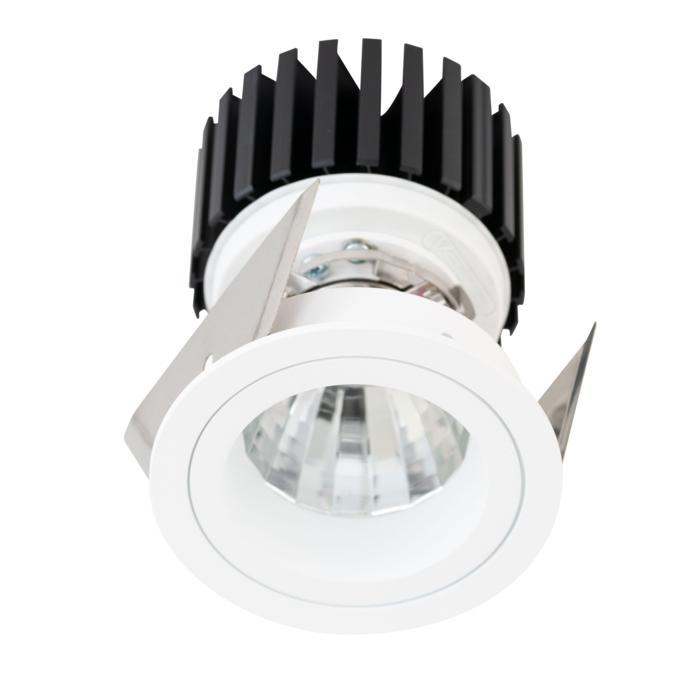 888.10017/.. - CITY, spot encastrable - rond - fixe - dimmable découpage de phase  - kit (led 230V + réflecteur + spot)