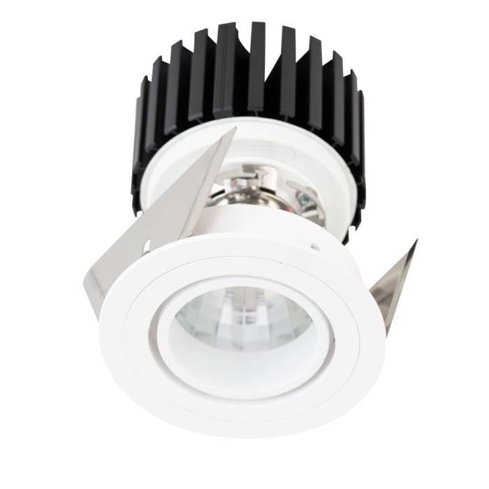 888.10018/.. - CITY, inbouwspot - rond - richtbaar - dimbaar fase aan- en afsnijding - kit (led 230V + reflector + spot)