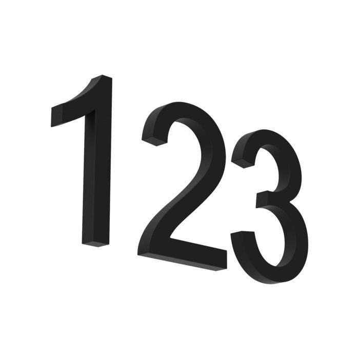 C50/.. - NUMBER/ST, huisnummer - cijfers 0-9 of letters A-B-C  H50mm alu - ano + lak