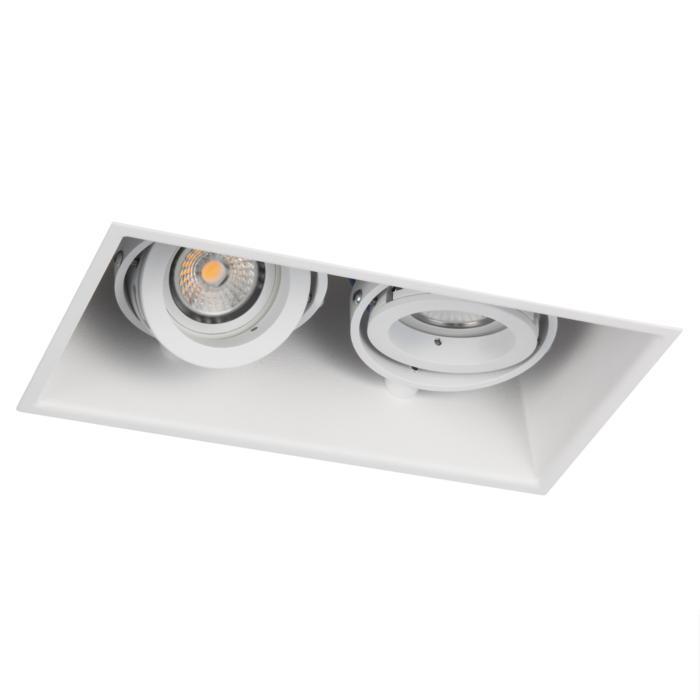 1882DS.ES50/.. - SPINNER X DS, inbouw plafondverlichting - vierkant - richtbaar