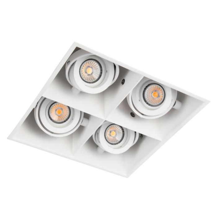 1889DS.ES50/.. - SPINNER X DS, inbouw plafondverlichting - vierkant - richtbaar