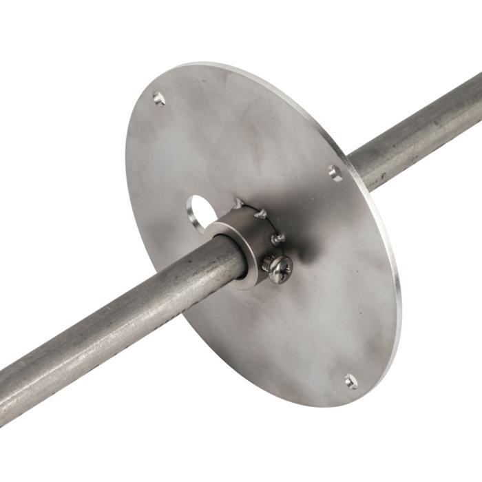 T7048/.. - UFO MINI, accessoires voor tuinverlichting - steunplaat + vijs