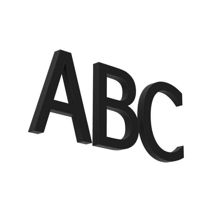 L./.. - LETTER, huisnummer - letters A-B-C-D  alu  ano + lak