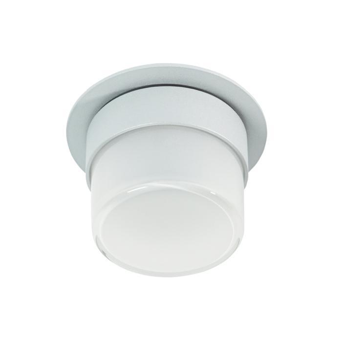 W3158/.. - MANTA IN, half in- en opbouw plafondverlichting - rond - vast - met hoog mat glas