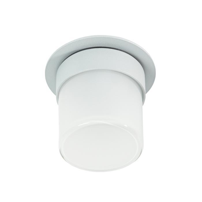 W3160/.. - MANTA IN, half in- en opbouw plafondverlichting - rond - vast - met hoog mat glas