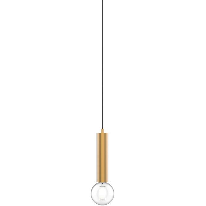 1847.E27.250/.. - MERO PENDEL BRASS, hanglamp - rond - met 1,5m textielkabel en trekontlasting aan fitting