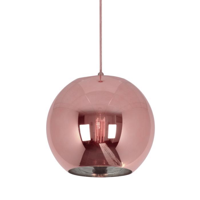 5127.E27/.. - MOBY PINKY, hanglamp met textielkabel - met 2m textielkabel en trekontlasting aan fitting