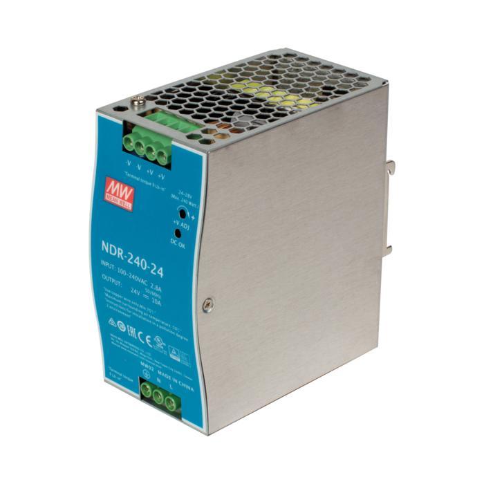 NDR240-24/.. - TRANSFO DIN RAIL, transfo - 240W / 24V-DC