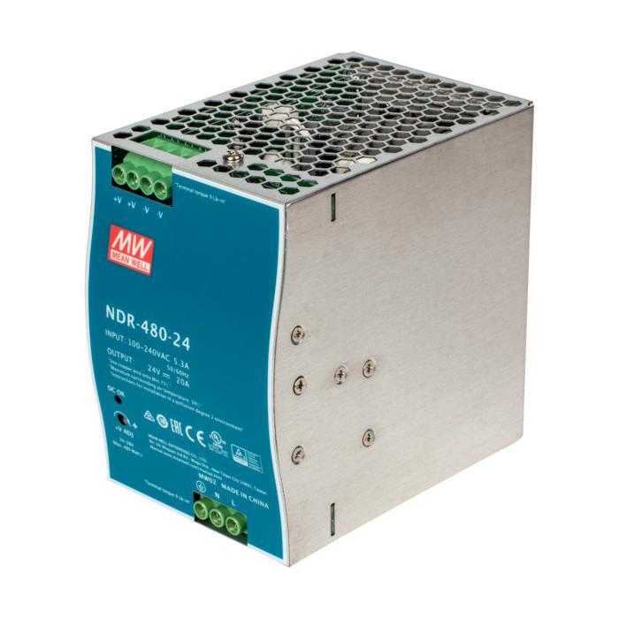 NDR480-24/.. - TRANSFO DIN RAIL, 480W / 24V-DC