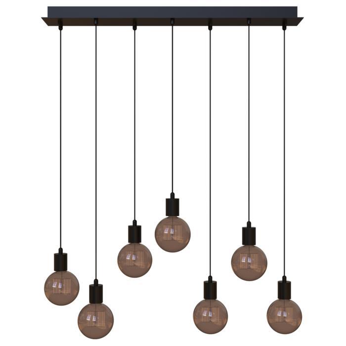 5067.7/.. - MAESTRO, hanglamp - balk 900mm - met 7x kabel 1m