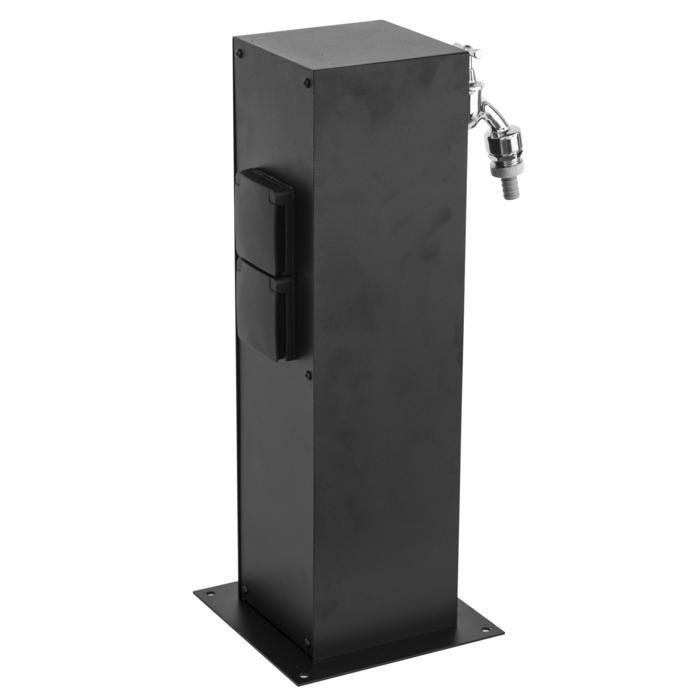 T1565/.. - CONTROL BOX, Connecterende zuil - Aansluitdoos met 2 stopcontacten en aftakkingsdoos voor dubbele dienstkraan - incl. watertoevoer