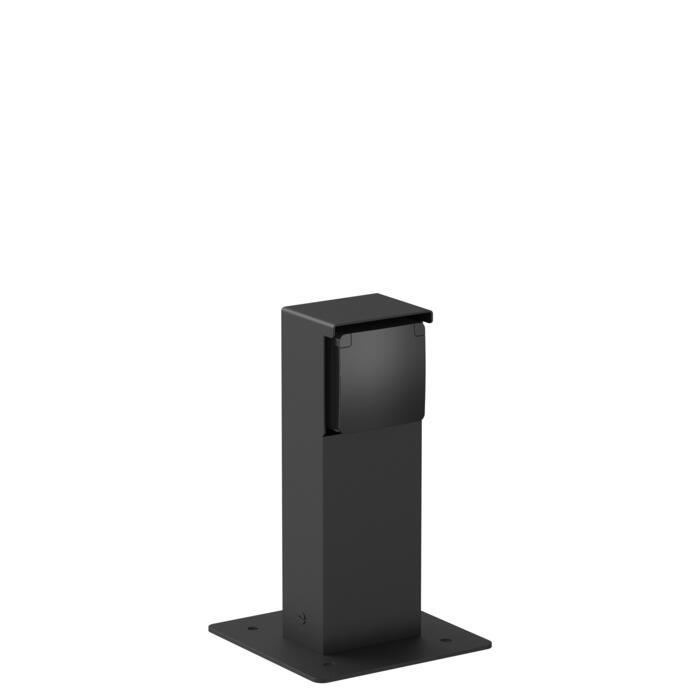 T351RA/.. - NIKE, Connecterende zuil - met 1 zwart stopcontact NIKO