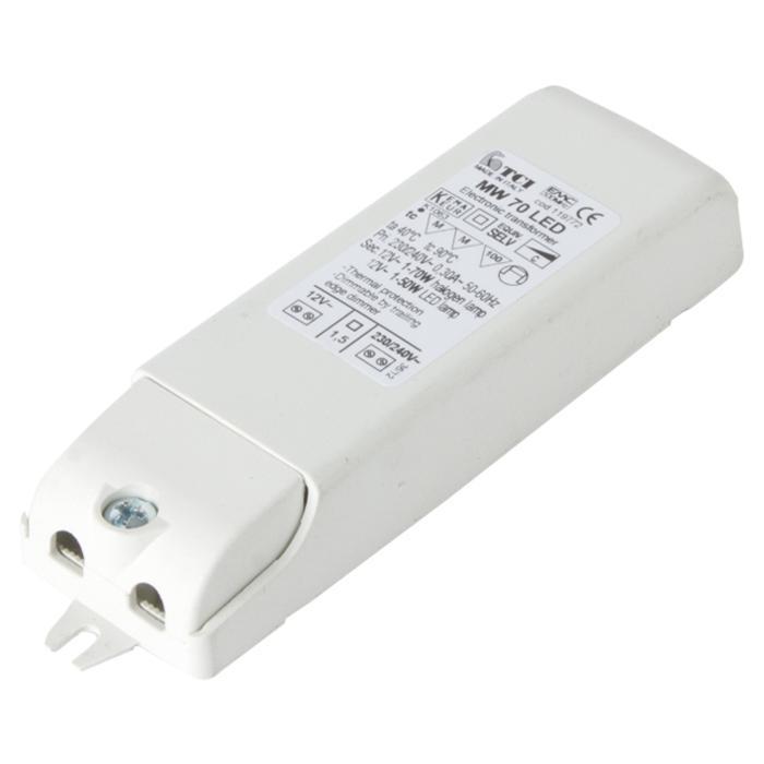 TR119772/.. - TRANSFO 0-70W, transfo - MW 12VAC | 5-70W HALOGEN | 2,5-50W LED