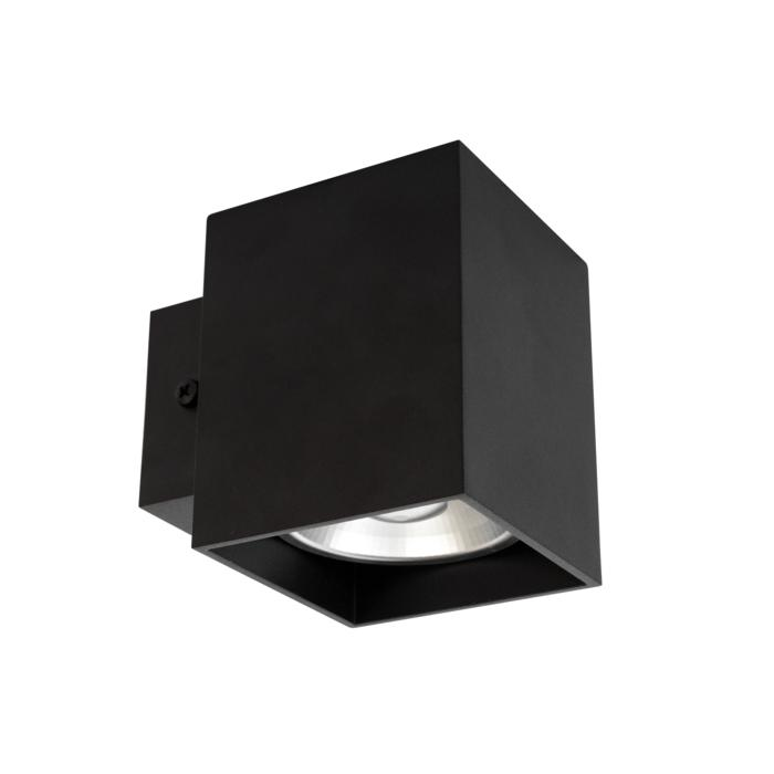 W1154/.. - RICHARD - ALU anodised, opbouw wandlicht - vierkant - vast - down