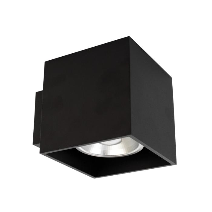 W1168/.. - RICHARD - ALU anodised, built-up wall light - square - fixed - down