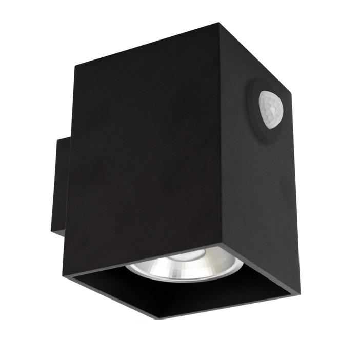 W1169/.. - RICHARD - ALU anodised, opbouw wandlicht - vierkant - vast - down - met ingebouwde sensor