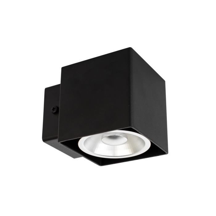 W1333/.. - RICHARD - INOX, opbouw wandlicht - vierkant - vast - down