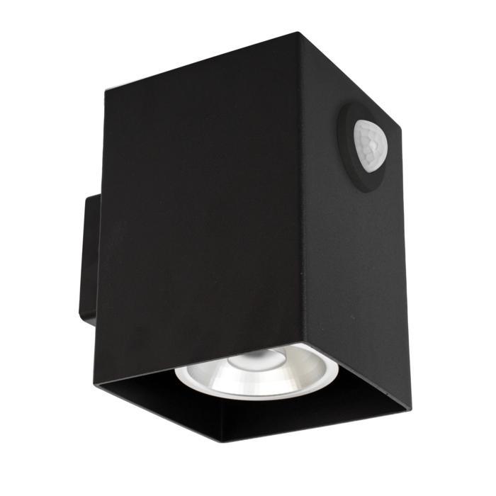 W1336/.. - RICHARD - INOX, opbouw wandlicht - vierkant - vast - down - met ingebouwde sensor