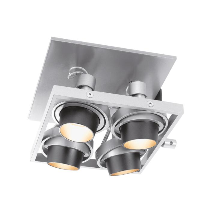 919/.. - BASE 4, plafondverlichting - richtbaar - met transfo
