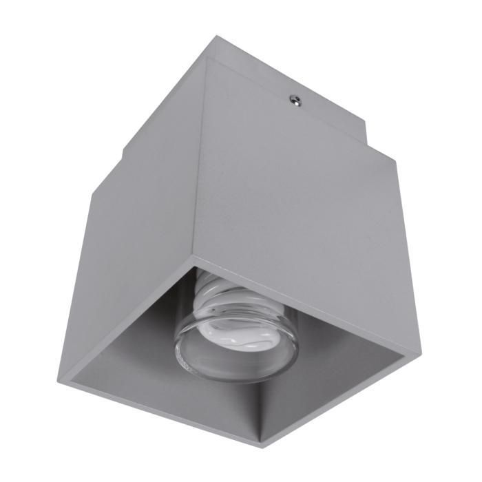 W1292G/.. - BOB GRANDE, opbouw plafondverlichting - vierkant - met opaal wit glas
