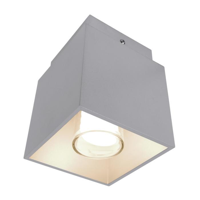 W1292F/.. - BOB GRANDE, opbouw plafondverlichting - vierkant - met opaal wit glas