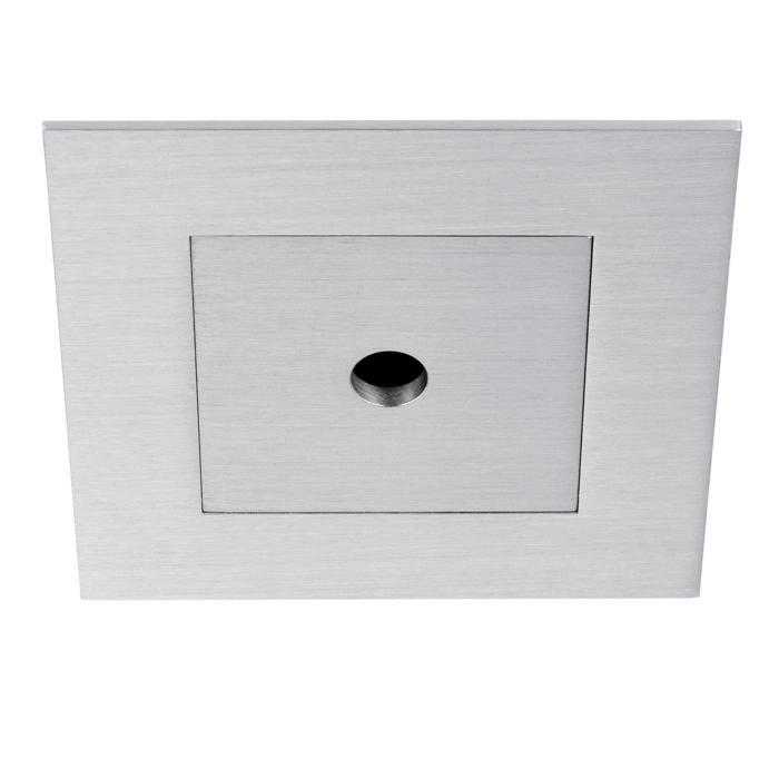 BORA50/.. - Ø80, inbouwbasis voor spot of pendel - vierkant - tweede kleur binnenplaat - zonder transfo