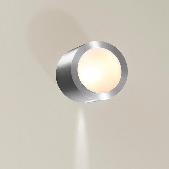 1295A/.. - CALIX, half in- en opbouw wandlicht - rond - standaard gezandstraald wit glas