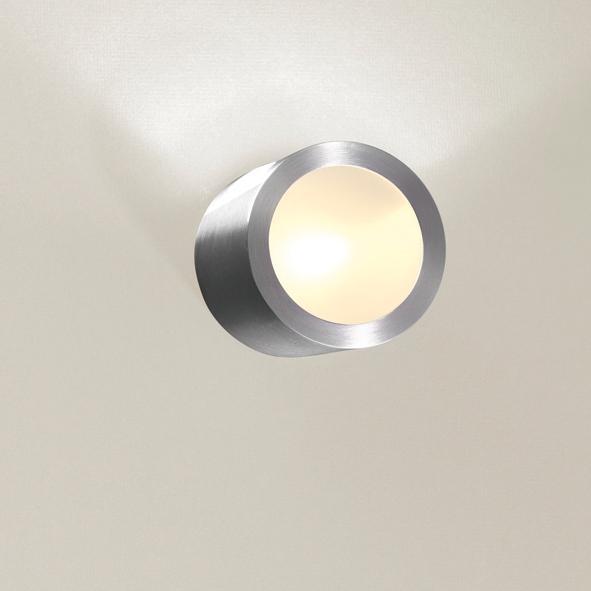 1295B/.. - CALIX, half in- en opbouw wandlicht - rond - standaard gezandstraald wit glas
